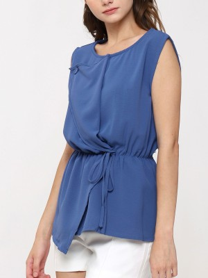 Front Fold Sleeveless Top