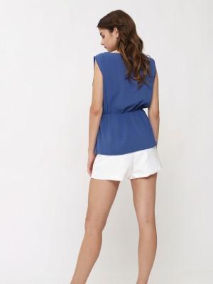 Front Fold Sleeveless Top