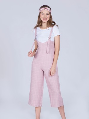 Checkered Waisted Dungarees