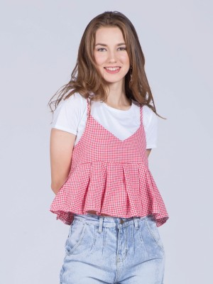 2 piesces Gingham Cami Top