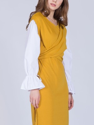 Two Tones Doubled Dress