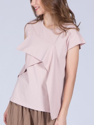 Drop Ruffle Sleeveless Top