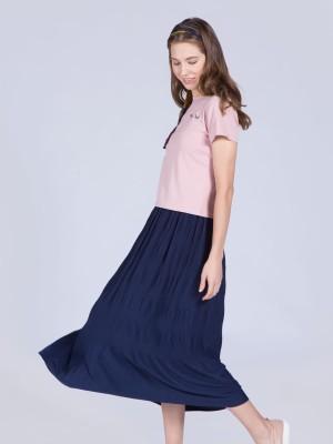 Blocked Runch Maxi Skirt
