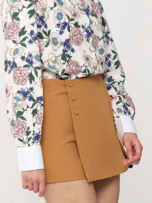 Wrap Side Buttons Skort