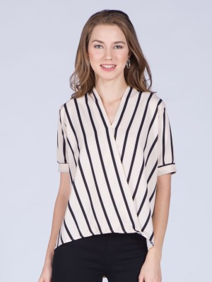 Short Sleeves Wrap Top