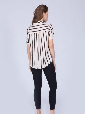 Short Sleeves Wrap Top