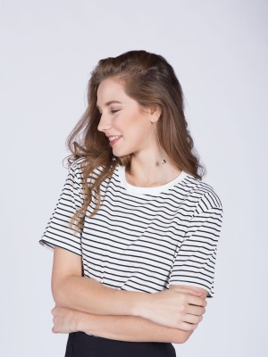 Short Sleeves Stripes Tee