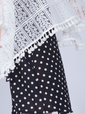 Polkadot Wrap Skirt