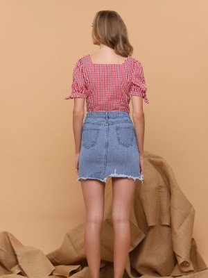 Cherry Semi Crop Shirt