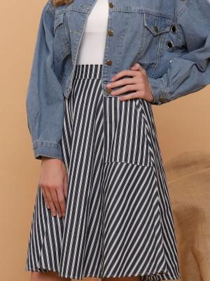Stripes Flare Skirt