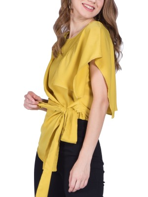 Side Front Knot Sleeveless Top
