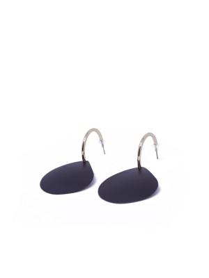 Tear Drop Black Earrings