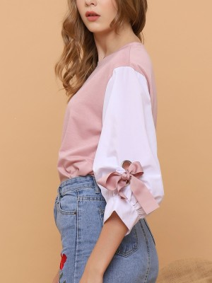 Bow-Tie Sleeves Top
