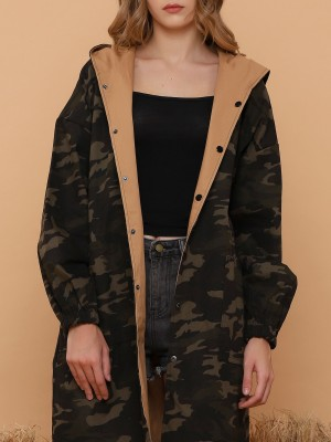2 Way Wear Long Army Jacket