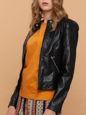 Synthetic Leather Jacket