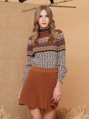 Textured Knit Mini Skirt