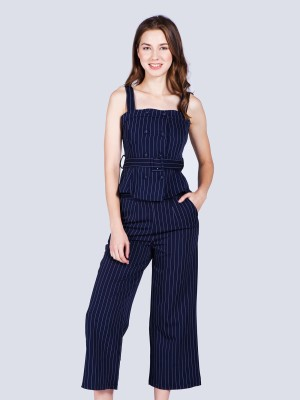 2-Pieces Set Stripes Top Pants