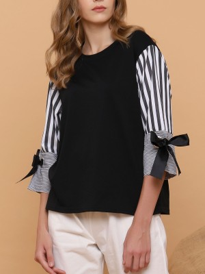 Stripes-Sleeves Top