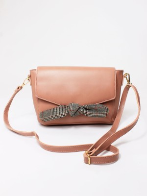 Checked Bow Bag