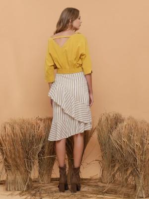 Layered Stripe Skirt
