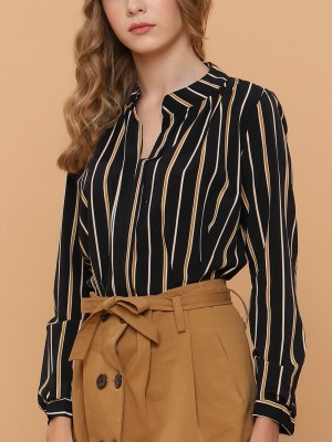 Long Sleeveless Stripes Top