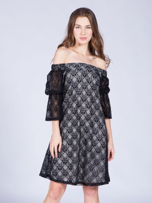Off-Shoulder Laces Dress