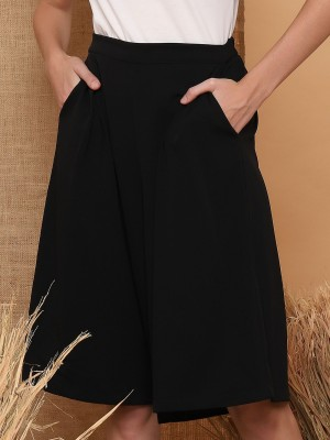 Pockets Knee-Length Culottes
