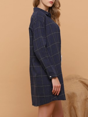 Checkered Lisle Shirt Dress