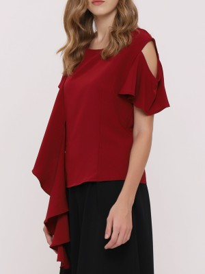 Frill Ruffle Sleeves Top