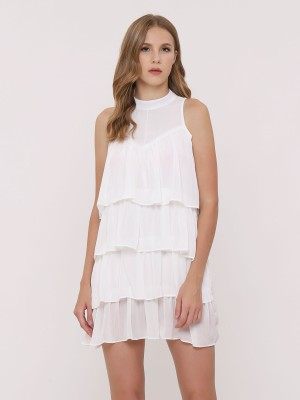 Ruffle-Layers Sleeveless Dress