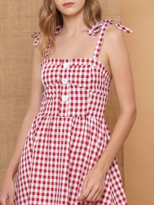 Plaid Farmer Dress
