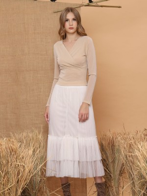 Tulle Layered Maxi Skirt
