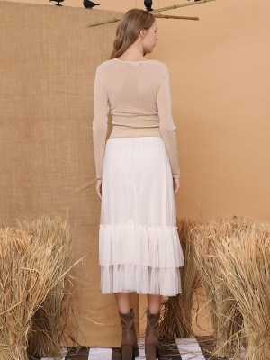 Tulle Layered Maxi Skirt
