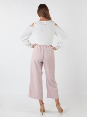 Crochet Cut-Off Long Sleeveless Top
