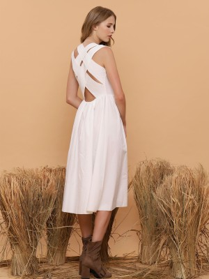 Double Crises Cross Back Dress