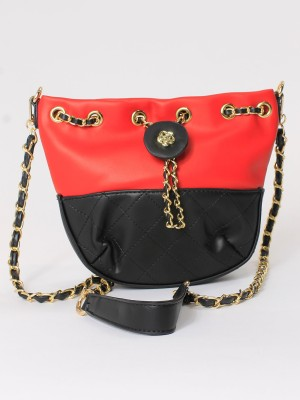 Pull-Over Chain Mini Bucket Bag