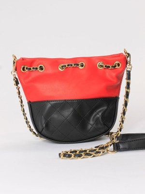 Pull-Over Chain Mini Bucket Bag