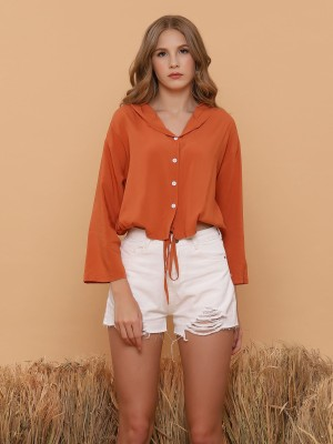Hoodie Semu Crop Shirt