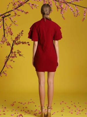 Tiered-Sleeves Dress