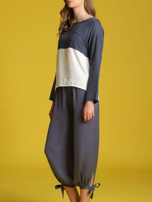 Two Tones Long Sleeveles Top