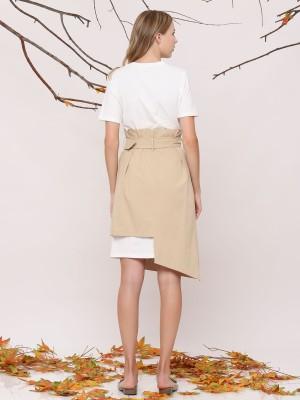 2-Pieces Set Dress With Wrap Skirt