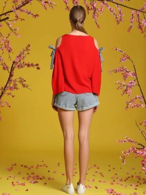 High-Waited Light Denim Shorts