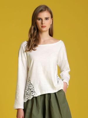 Side Crochet Long Sleeveless Top
