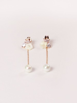 Princess Long Pearl Earrings
