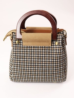 Tartan Mini Wooden Handbag