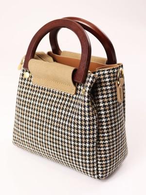 Tartan Mini Wooden Handbag