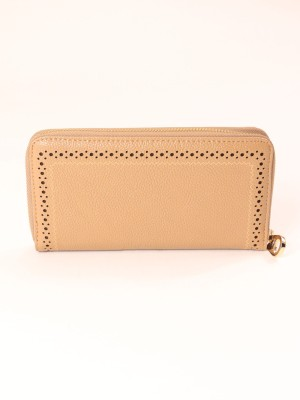 Laser-Cut Zipper Long Wallet