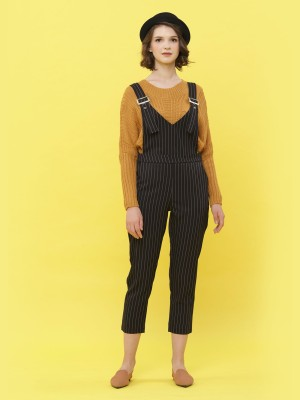 Stripes Printed Jumpsuit