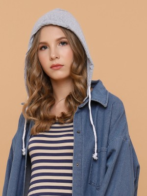 Detachable Hoodie Denim Outer