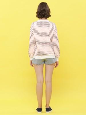 Stripes Long Sleeveless  Sweat Top